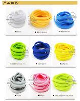 Unisexe Paire Lacet Plats Coloré Cordons Sport Chaussure Toile Lacets Shoelaces