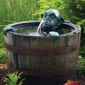 78315 Face And Hands Pond And Garden Water Fountain Patina