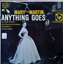 "MARY MARTIN - ANYTHING GOES - COLUMBIA HOUSE PARTY SERIES  - 10"" LP -1956"