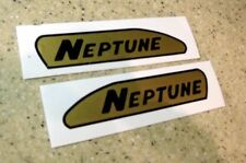 Neptune Vintage Outboard Motor Decals Black/Gold FREE SHIP + FREE Fish Decal!