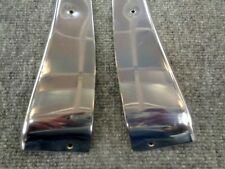 380SL 450SL 560SL W107 OEM MERCEDES BENZ LEFT RIGHT SIDE DOOR PANEL CHROME SET