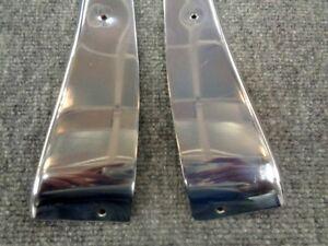 380SL 450SL 560SL W107 OEM MERCEDES BENZ LEFT RIGHT SIDE DOOR PANEL CHROME SET