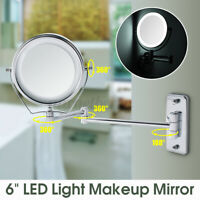 7X Makeup Mirrors Magnifying LED Makeup Lighted Stand Wall Mount Swing Arm