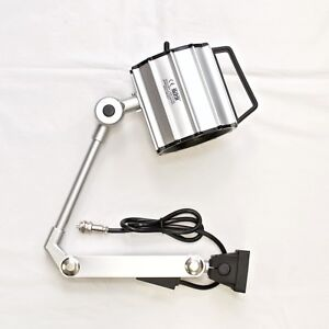 """G-M80 Waterproof 70W Halogen Work Light w/ 17"""" Arm 24V Machine Worklight"""