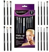 8 Pack Glamorize Make-up Cosmetic Brush Set,Blusher,Eye Shadow,Eyebrow ,Comb