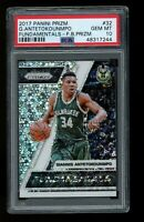 2017 Panini Prizm Fast Break Fundamentals 32 Giannis Antetokounmpo Bucks  PSA 10