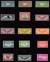 US Airmail Stamps: C7-C12, C16-C17, C19-24, C46 Mint, o.g., VF/NH (cv$116.60)
