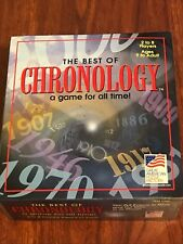 1997 The Best of Chronology: A Game For All Time. Trivia. EXCELLENT CONDITION.