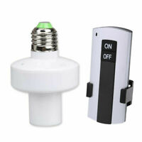 E27 Screw Wireless Remote Control Light Lamp Bulb Holder Cap Socket Switch