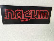 Nasum Logo Vinyl Magnet - Grind , Punk, Metal