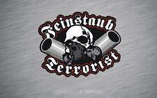 Aufkleber Feinstaub Terrorist Rat Oldschool Rust Sticker Skull OEM AD020