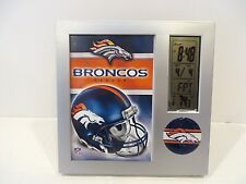 DENVER BRONCOS DIGITAL PICTURE FRAME CLOCK
