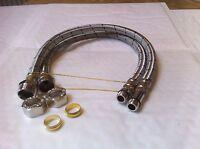 Flexible MonoBloc Tap Connectors Tails M12 x 15mm x 500mm Pair Flexi Monoblock