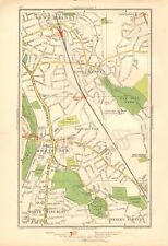 1936 LARGE SCALE LONDON MAP EAST BARNET,, NEW BARNET, NTH FINCHLEY,WHETSTONE