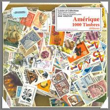 AMERIQUE - Pochette de 1000 Timbres Différents