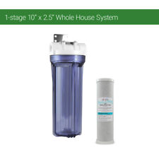 "One Stage 10"" Whole House Water Clear Filter Housing CTO Carbon- RVS WELL BOILER"