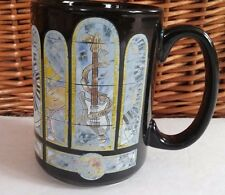 Hard Rock Cafe Myrtle Beach Large Coffee Mug Guitars Piano Drums Collectible Cup