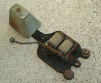 "Antique Vintage Alarm Mechanism Bell Clanger Hardware Steampunk 6"" Tall Old Iron"