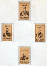 ANTIQUE Vintage MATCH BOX LABEL Lot JAPAN & RUSSIA EMPEROR Togo / Sweden #055