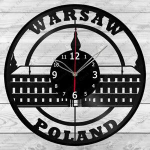 Vinyl Clock Warsaw Vinyl Record Wall Clock Home Art Decor Handmade 5985