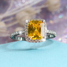 Ring 925 Silver Sterlin AAA CZ Diamant Swiss Zirkonia-Qualität Geschenke G.17,8