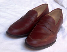 Lee Kee Bespoke Bordeaux Strap Loafers: Exceptional Condition.10 Med.