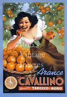 Arance Cavellino Orange Citrus Fruit Crate Label Vintage Art Print