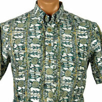 Kahala Hawaiian Aloha Pullover Shirt Mens M Turtles Fish All Over Print