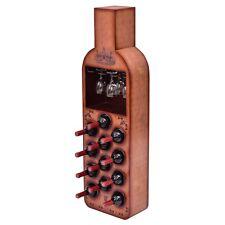 12 Bottles Wine Rack Cabinet Storage Bar Stand Liquor Wood Bottle Shaped Shelf
