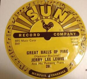 Jerry Lee Lewis - Great Balls of Fire - Sun Records 12 X 12 Sign