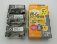 Casio Disc Title Printer Ink Ribbon TR-18SR-3P Silver 3pcs NEW