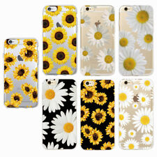 Sunflower Daisy Patterns Soft Transparent TPU Mobile Phone Case Cover For IPhone