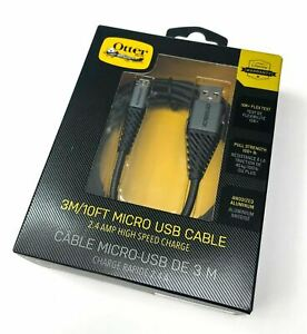Otterbox Braided Rugged Durable Micro-USB Charge & Sync Cable / 3m / Black