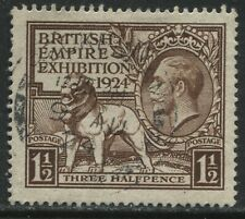 GB KGV 1924 1 1/2d Wembley very lightly used