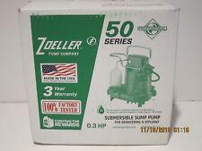 Zoeller M53 53-0001 Sump Effluent Pump .3HP 115V 1PH 9' Cord,Automatic-NISB-FSHP