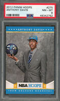 Anthony Davis Los Angeles Lakers 2012 Panini Hoops Rookie Card RC #275 PSA 8