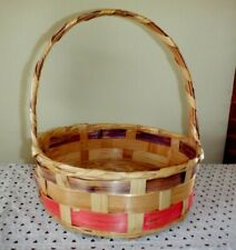 Vintage Large Woven Mexico Easter Basket