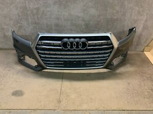 2017 2018 2019 Audi Q7 Quattro Front Bumper and Grille Gray OEM