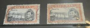 Nigeria 1938 King George VI Pair of SG59c VFU