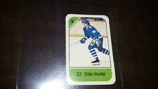 1982-83 Post Cereal Mini NHL Hockey Card DALE HUNTER