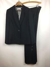 "TAHARI ARTHUR LEVINE Navy Blue 2 Pc. ""EDDY"" Pants + Blazer Suit Sz 16 NWT $280"