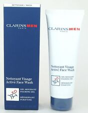 Clarins Men Active Face Wash Foaming Gel Purifying Sealed Tube 4.4 oz NIB