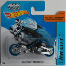 Hot Wheels - Max Steel Motorcycle / Motorrad schwarz/silbermet. Neu/OVP