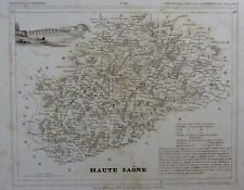 Carte Département HAUTE SAÔNE gravée sur acier par Alés Petit Atlas National