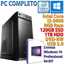 PC COMPUTER DESKTOP INTEL CORE i5-9400 RAM 8GB SSD 120GB + HDD 1TB DVD-RW HDMI