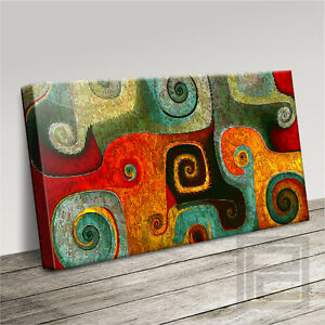 MOROCCAN SWIRLS II MARRAKECH INSPIRED ICONIC CANVAS ART PRINT PICTURE ArtWilliam