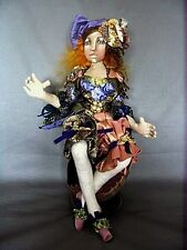 """*NEW* CLOTH ART DOLL (PAPER) PATTERN """"JEWEL OF EXPERIENCE"""" BY CHRISTINE SHIVELY"""