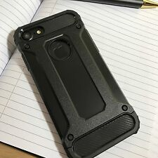 ORIGINALE Apple iPhone 6 caso ibrido TECH UK Sci-Fi robusto Stealth JET BLACK