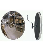 "Lot Of 2 Industrial 12"" Acrylic Safety & Security Convex Mirror"
