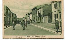 1941 Sassari Torralba Via Carlo Felice destinazione Lucca FP B/N VG ANIM